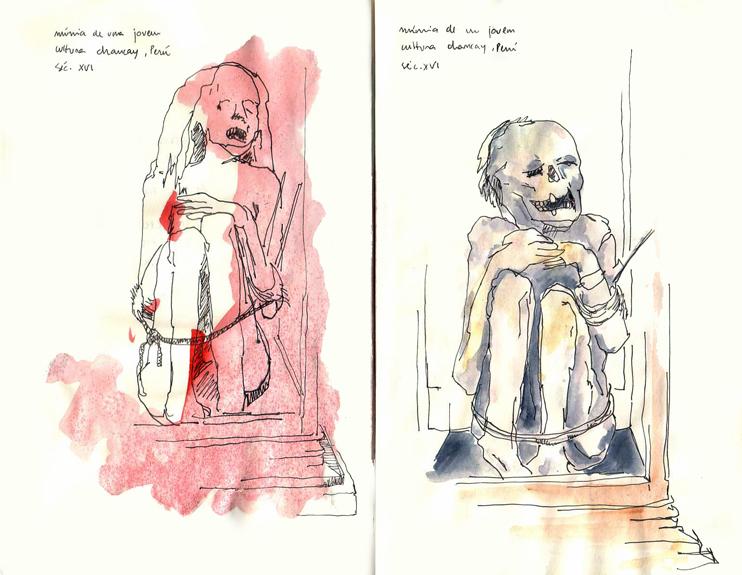 ana romao - mummies of the arqueologic museum of Carmo, Lisboa