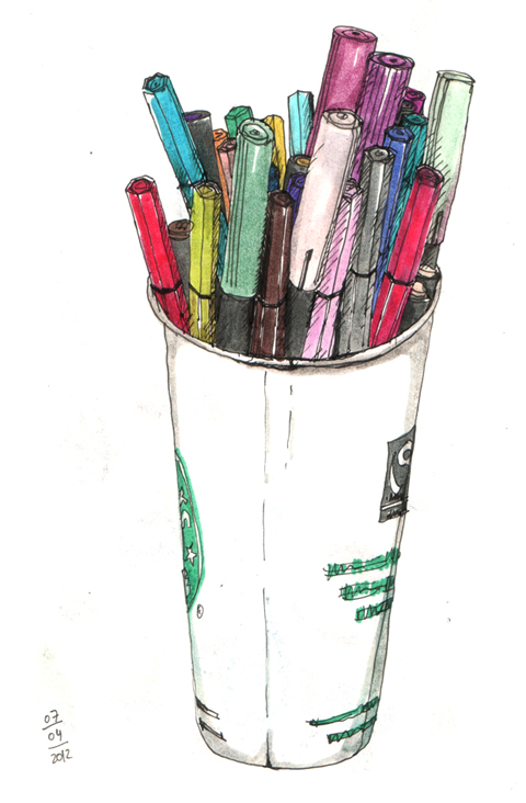 ana romao - paper cup with markers