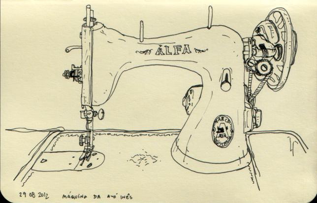 ana romao - grandma's sewing machine