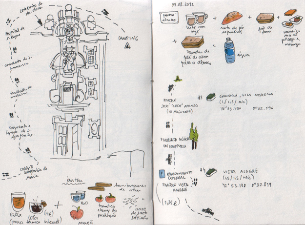 ana romao - summer road trip 2012 sketchbook pages