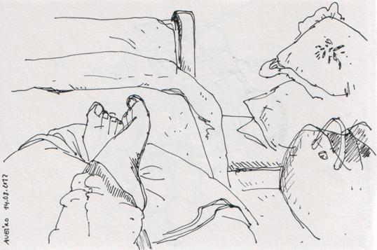 ana romao - sketch of my feet
