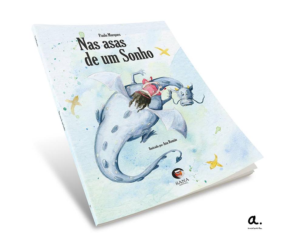 Cover of the children's book Nas Asas de um Sonho