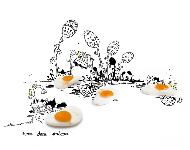Project Gummies Photoillustration _ Easter eggs garden