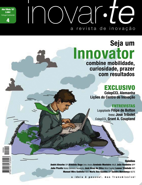 ana romao - cover of inovar.te magazine _ global worker - working and travel worldwide
