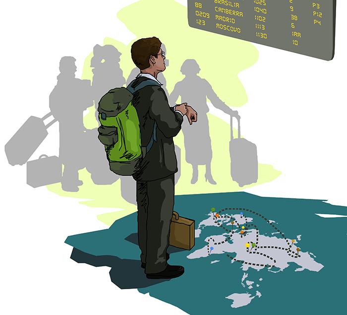 ana romao - illustration inovar.te magazine _ global worker - working and travel worldwide