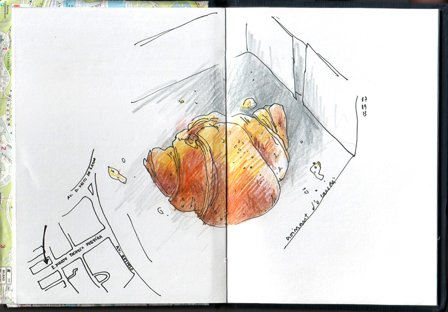 ana romao - sketch of a croissant
