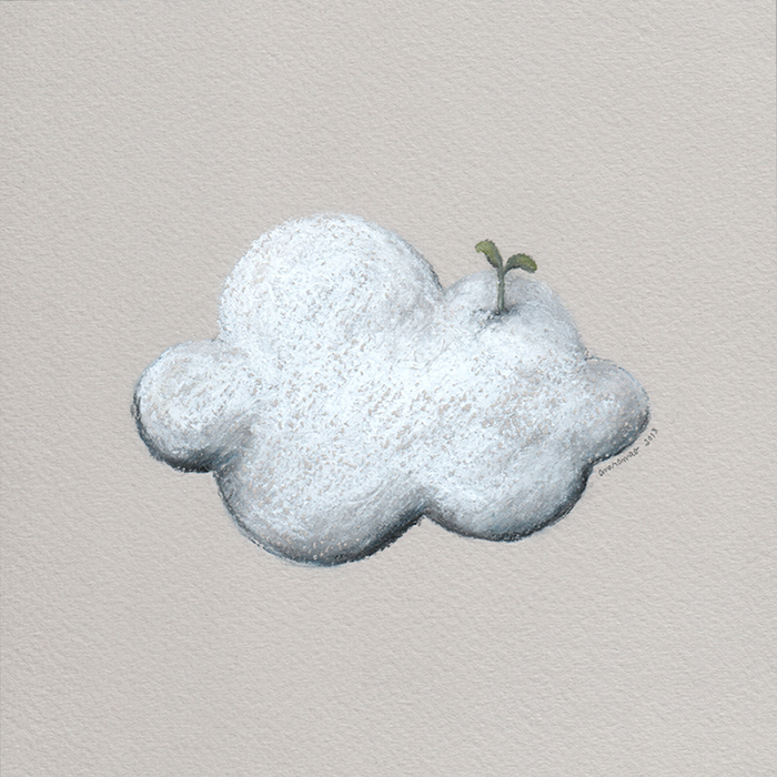 ana romao - clouds project - cloud with plant