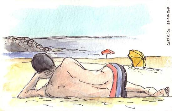 ana romao - sketch at the beach - caparica